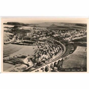Scotland: Moray, Cullen From The Air - 1960s RP Postcard