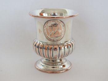 Royal Visit Souvenir Urn. King George VI & Queen Elizabeth, 1939