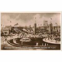 Scotland: Lanarkshire, Glasgow. 1938 Empire Exhibition Scotland Dominions & Colonial Avenues. Official RP Postcard