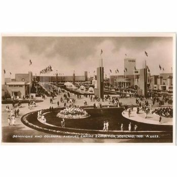 Scotland: Lanarkshire, Glasgow. 1938 Empire Exhibition Scotland Dominions & Colonial Avenues. Official RP Postcard