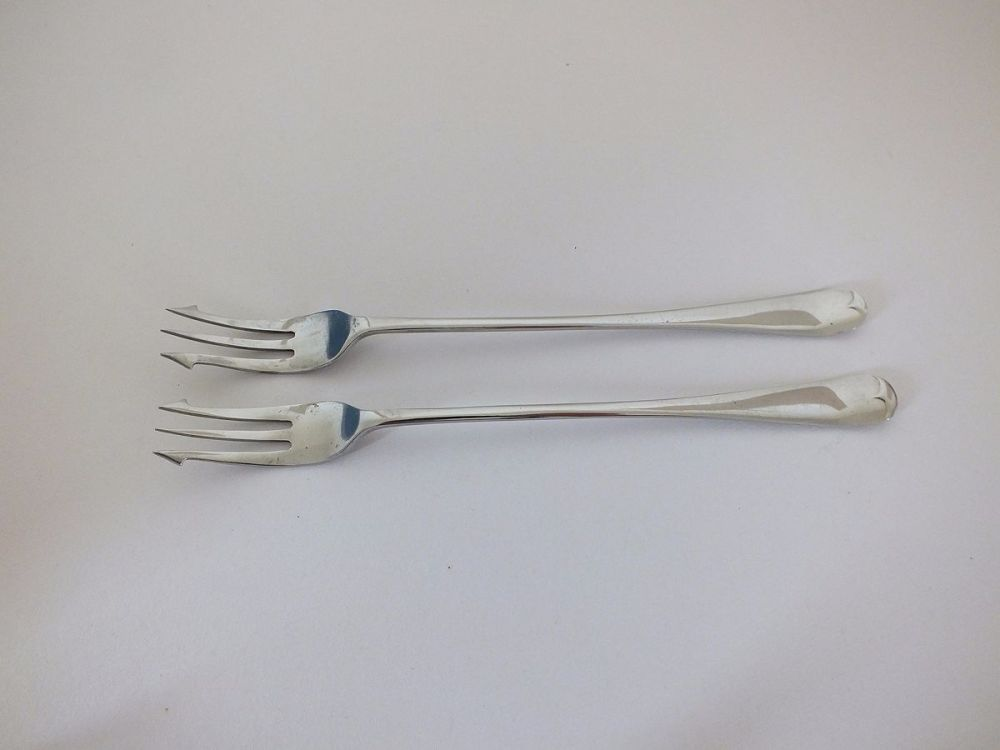 Pickle Forks / Olive / Cocktail Forks, Pair
