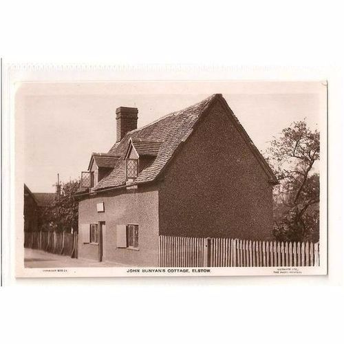 England: Bedfordshire: John Bunyans Cottage Elstow. Real Photo Postcard, 1930s.