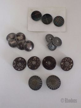 Buttons, Antique & Vintage, Mixed Lot From Early 1900s To 1980s