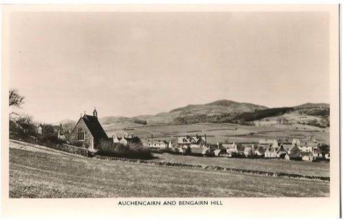 Scotland: Dumfriesshire, Auchencairn & Bengairn Hill, 1960s RPPC