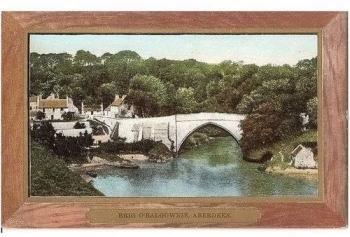 Scotland: Aberdeenshire, Brig O'Balgownie, Aberdeen - Early 1900s Frame Postcard