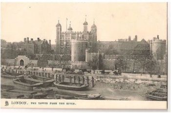 England: London. The Tower From The River - Raphael Tuck Postcard, Early 1900s