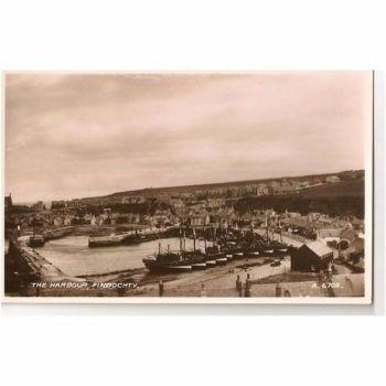 Scotland, Fidochty, The Harbour - 1950s RP Postcard