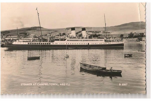 Scotland: Argyll & Bute. Steamer At Campbeltown, Argyll.  RP Postcard