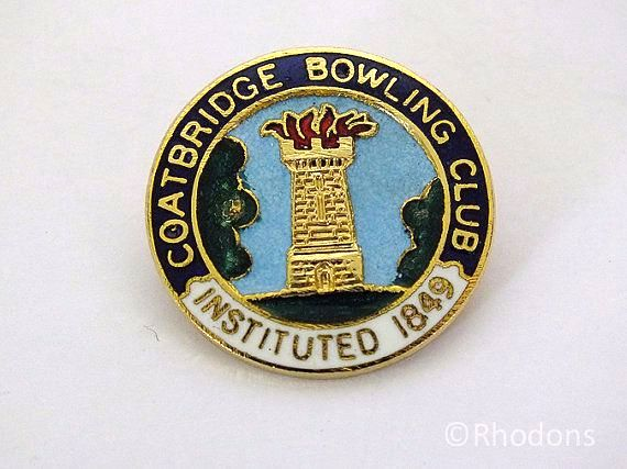 Coatbridge Bowling Club Lapel Badge
