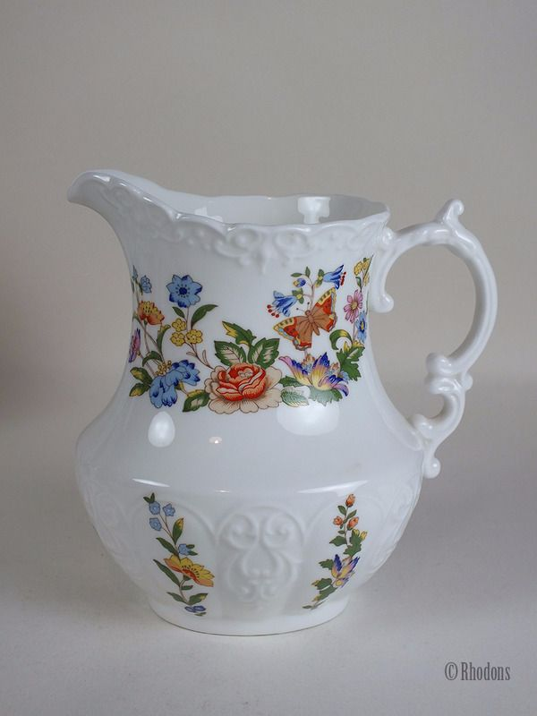 Aynsley Cottage Garden Pattern Milk / Water Jug, Large, 1 Pint Capacity