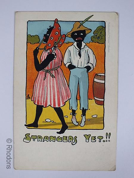 Valentines Humourous Postcard, Early 1900s Black Americana