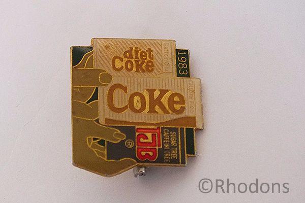 Advertising Lapel Badge For Diet Coke, 1983