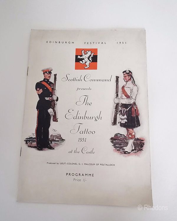 Edinburgh Festival Programme - Edinburgh Tattoo 1951