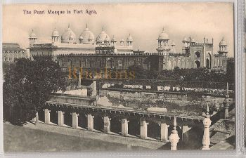 India: The Pearl Mosque In Agra, Early 1900s Postcard