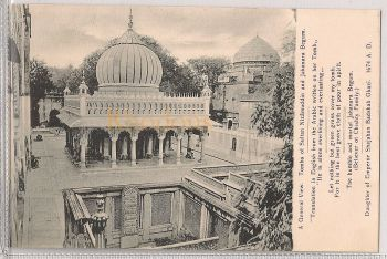 India: Tombs Of Sultan Nizamuddin And Jahanra Begum - General View. Early 1900s Postcard