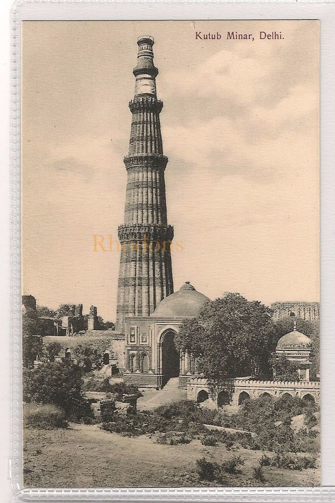 India: Kutub Minar, Delhi. Early 1900s Postcard