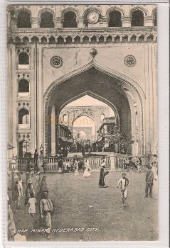 India: Char Minar, Hyderabad City, Early 1900s Postcard
