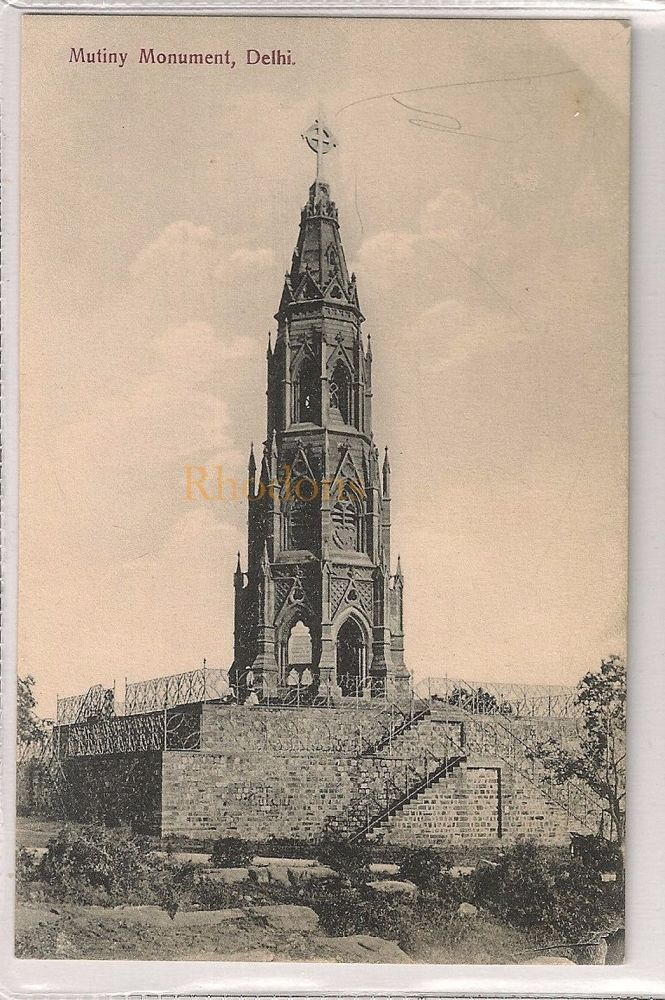 India: The Mutiny Monument, Delhi. Early 1900s Postcard