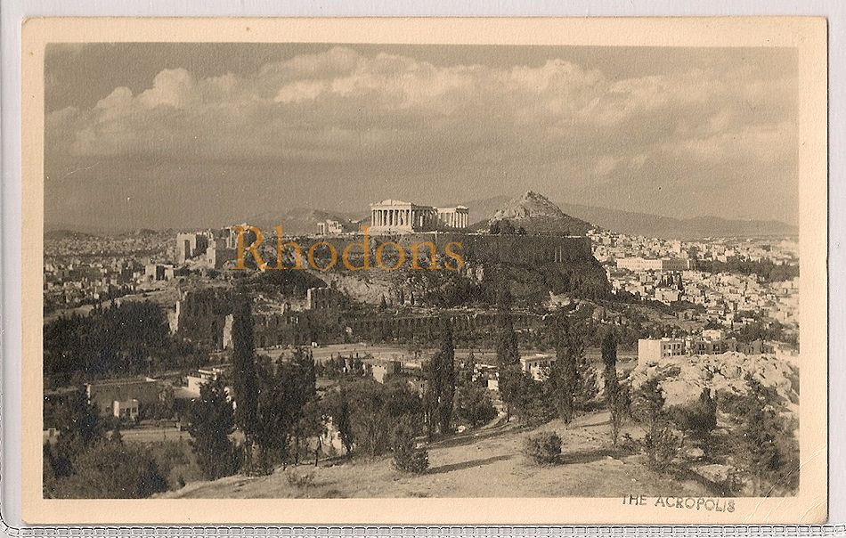 Greece: Athens, View Of The Acropolis. Early / Mid 1900s Postcard