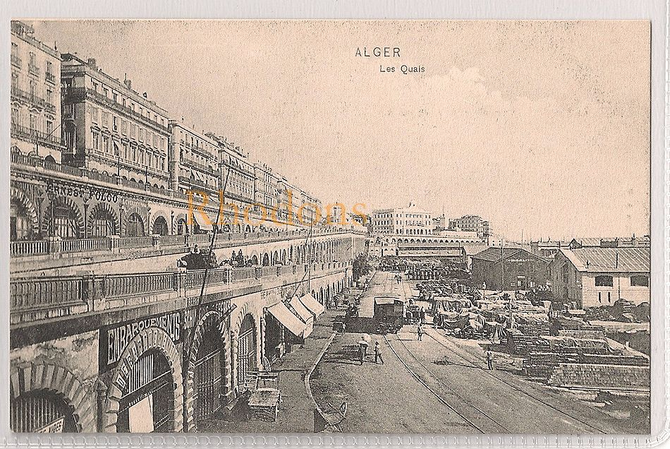 Algeria: Alger, Les Quais. Early 1900s Postcard