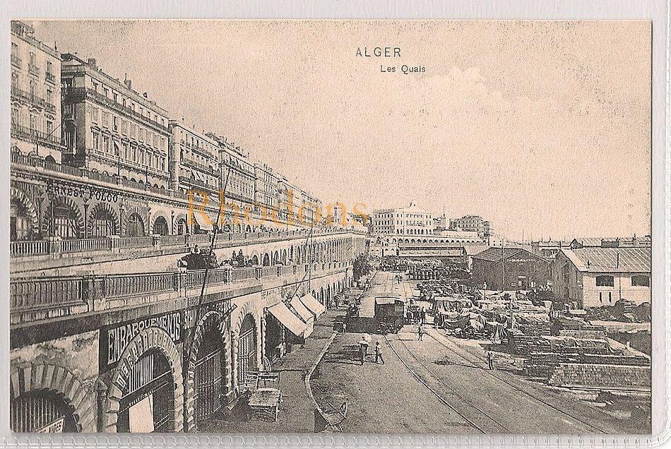 Algeria: Alger, Les Quais. Early 1900s Postcard
