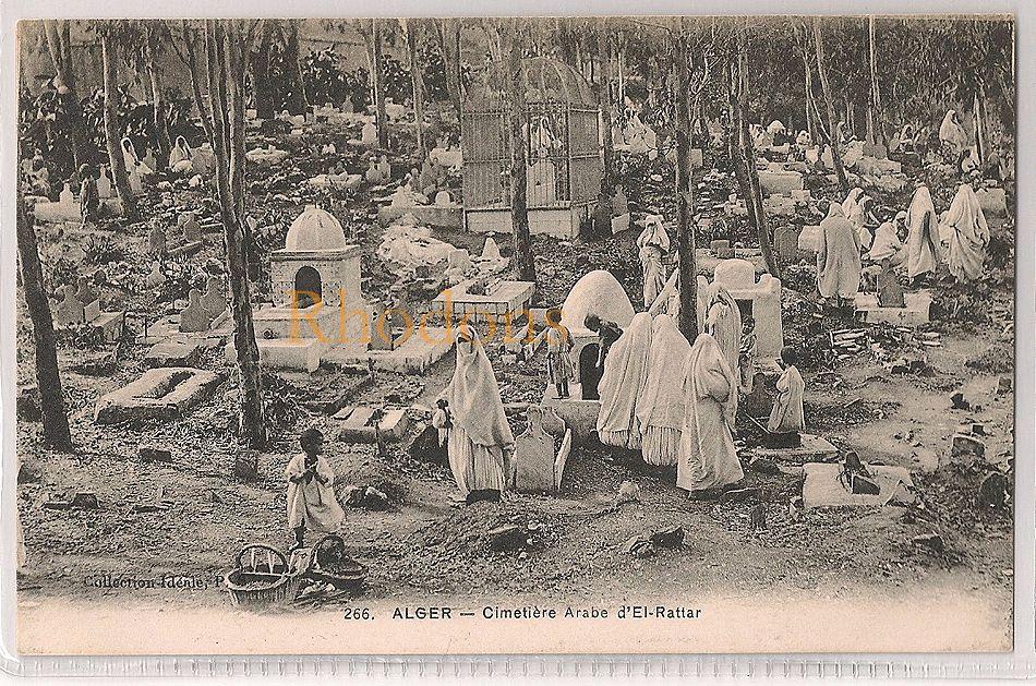 Algeria: Alger, Cimetiere Arabe D'El-Rattar. Early 1900s Postcard