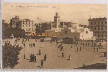 Algeria: Alger - La Place Du Government And Grand Mosque. Early 1900s Postcard