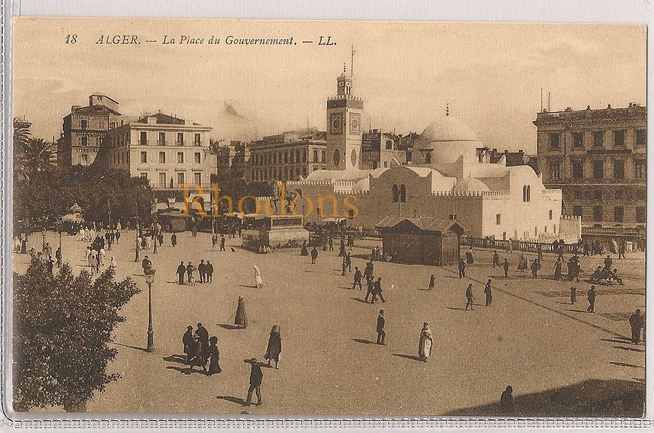 Algeria: Alger, La Place Du Government And Grand Mosque. Early 1900s Postcard