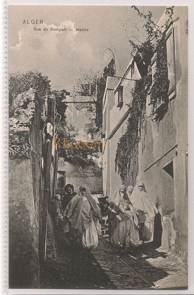 Algeria: Alger - Rue Du Rempart, Medee. Early 1900s Postcard