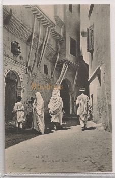 Algeria: Alger- Rue de la Mer Rouge, Early 1900s Postcard