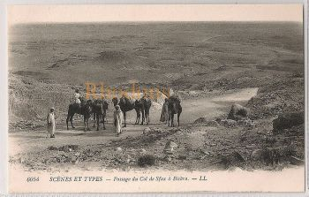Algeria: Scènes et Types - Caravane, Passage du col de Sfax à Biskra. Vintage Postcard
