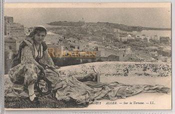 Algeria: Alger- Sur La Terrasse. Early 1900s Picture Postcard