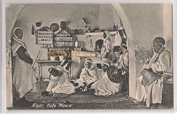 Algeria: Alger- Cafe Maure. Early 1900s Picture Postcard