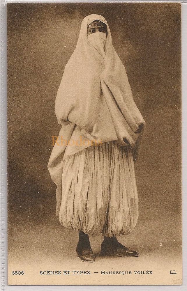 Algeria: Algerian Woman In Costume, Scénes et Types - Mauresque Voilée. Early 1900s Postcard