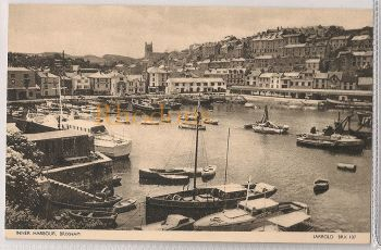 Devon: Brixham Inner Harbour (Jarrold - BRX107), Early / Mid 1900s Postcard