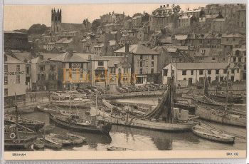 Devon: Brixham Harbour (Jarrold - BRX102), Early / Mid 1900s Postcard