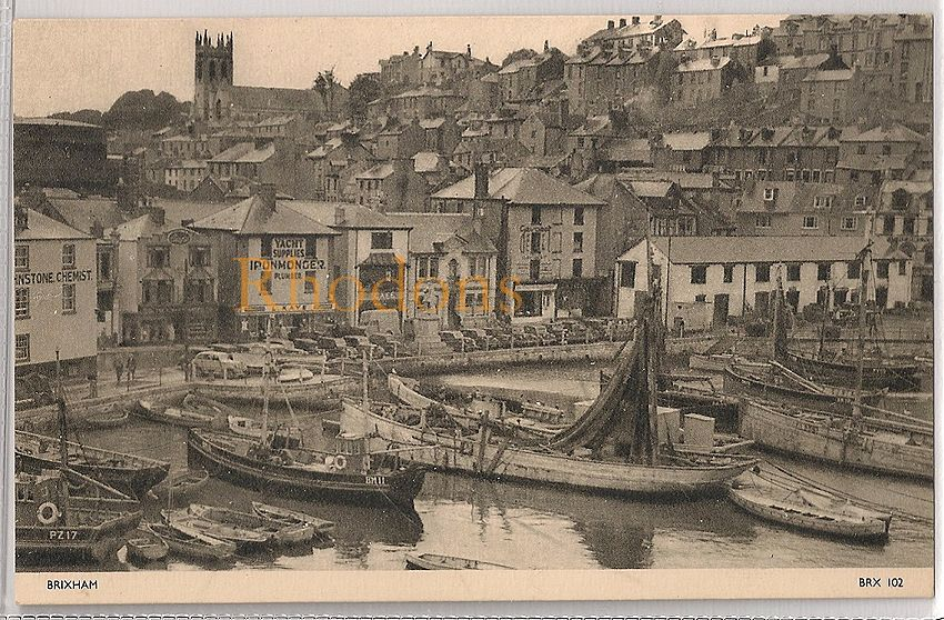 England: Devon. Brixham Harbour (Jarrold - BRX102), Early / Mid 1900s Postcard