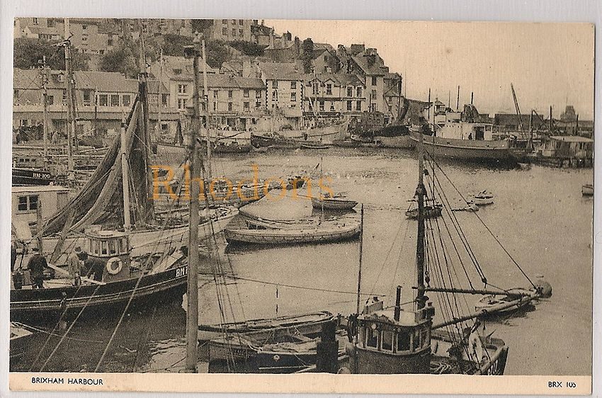 England: Devon. Brixham Harbour, Early / Mid 1900s Postcard