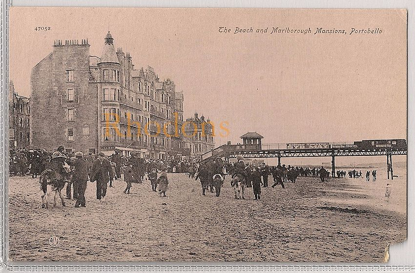 Scotland: East Lothian, Portobello, The Beach & Marlborough Mansions, Early 1900s (A/F)