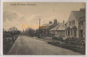 Scotland: Midlothian, Gilmerton, Fernie Hill Road, Early 1900s Postcard