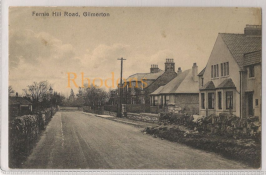 Scotland: Midlothian, Gilmerton, Fernie Hill Road, Early 1900s Postcard