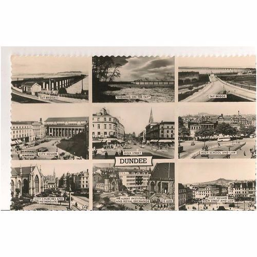 Scotland: Dundee, 1960s Multiview RP Postcard