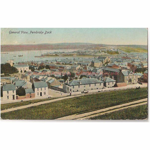 Wales: Pembrokeshire. Pembroke Dock.  1920s General View Postcard