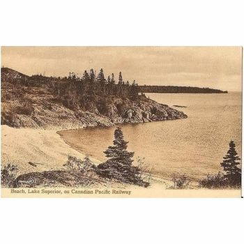 Canada: Beach View, Lake Superior, On Canadian Pacific Railway. Early 1900s Postcard