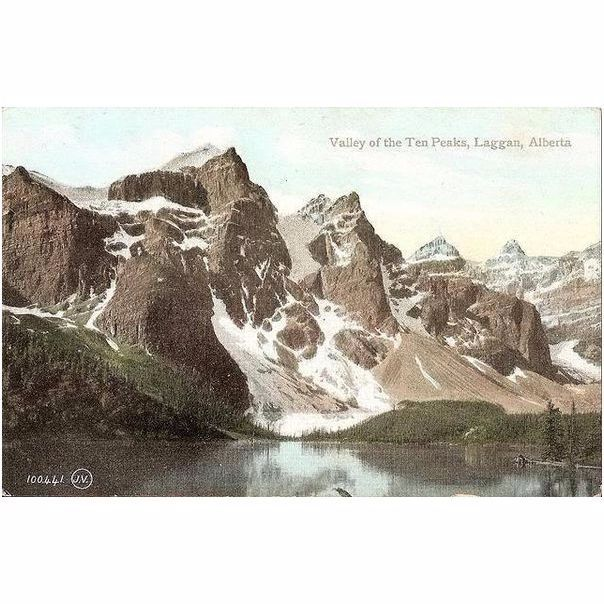 Canada: Alberta, Valley of the Ten Peaks, Laggan. Early 1900s Postcard