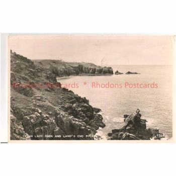 Cornwall: Irish Lady Rock And Lands End Point. Circa 1950s Postcard