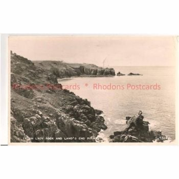 England: Cornwall. Irish Lady Rock And Lands End Point. Circa 1950s Postcard