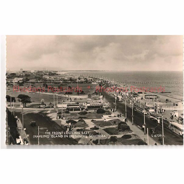 England: Hampshire, Hants. Southsea: The Front Looking East. 1960s Real Photo Postcard