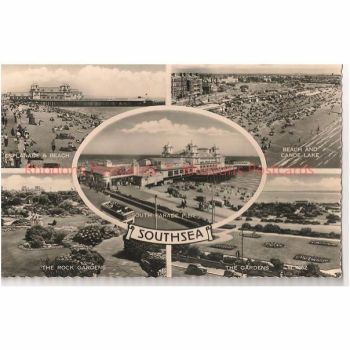 England: Hampshire, Hants.Southsea 1960s Multiview Real Photo Postcard