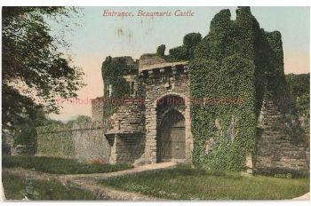 Wales: Anglesey, Entrance Beaumaris Castle. Early 1900s Postcard